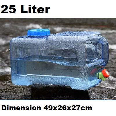 25L Water Bucket Storage Barrel Container